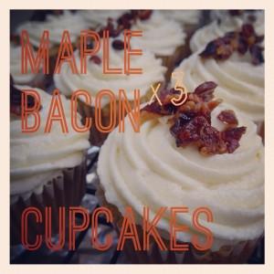 Maple Bacon x3 Cupcakes