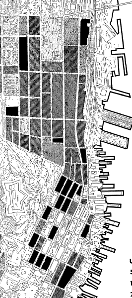 in the Black Squares, 30% or more of dwellings lack indoor washrooms.