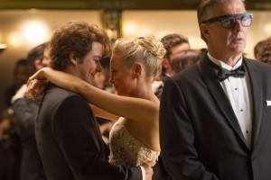 (L to R) Marc-André Grondin, Portia Doubleday, and Chris Noth in After the Ball