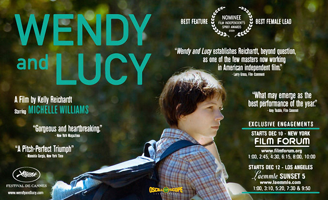 wendy and lucy In the film's opening seconds, wendy and lucy's energising mutual dependence is writ large with a remarkable, inconspicuous tracking shot that captures the pair frolicking through a woodland glade, setting the perfect tone for the heartbreaking minimalist weepie that lies ahead wendy is our heroine, a waifish tomboy on a.