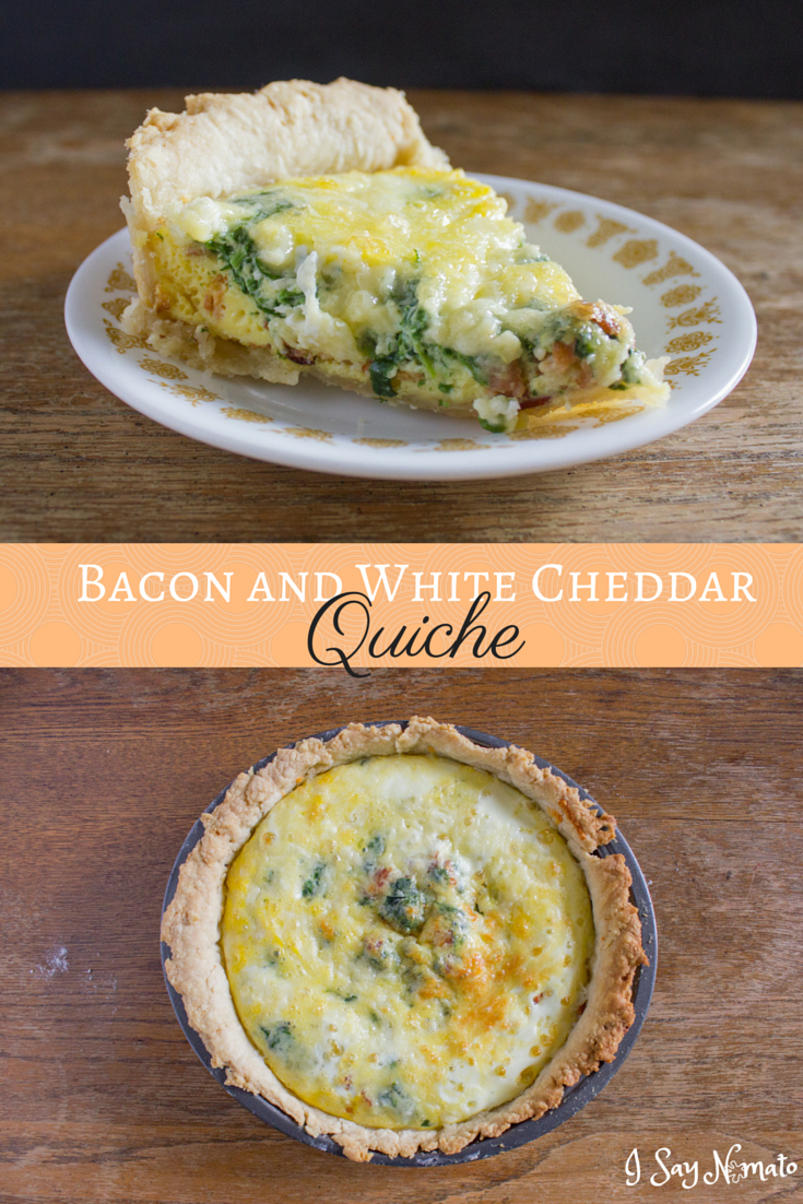 Bacon and White Cheddar Quiche - I Say Nomato Nightshade Free Food Blog