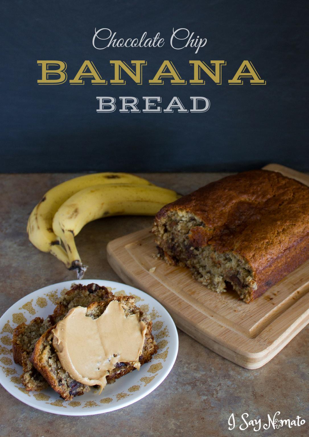 Chocolate Chip Banana Bread - I Say Nomato Nightshade Free Food Blog