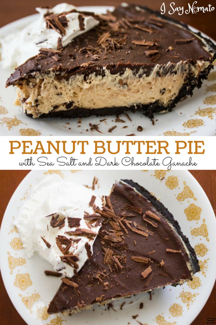 Peanut Butter Pie with Sea Salt and Dark Chocolate Ganache - I Say Nomato Nightshade Free Food Blog