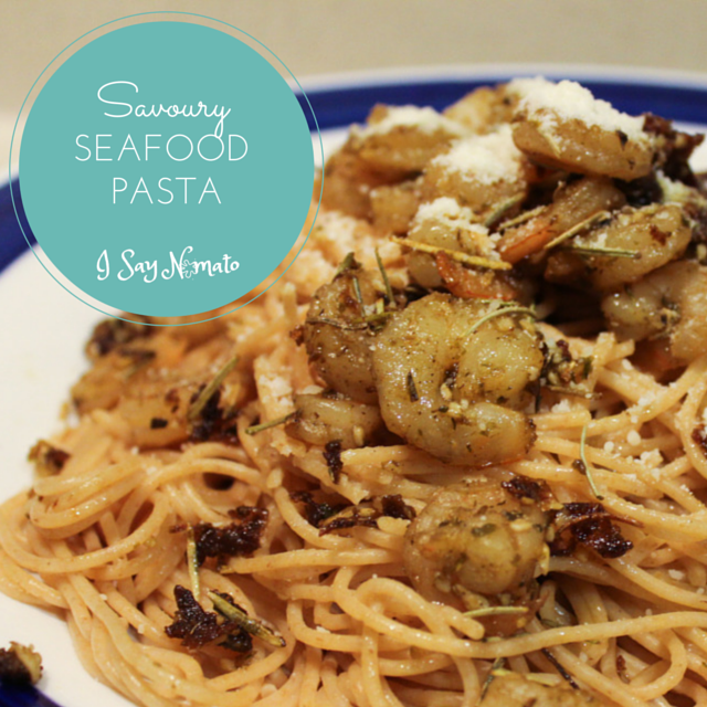 Seafood Pasta - I Say Nomato Nightshade Free Food Blog