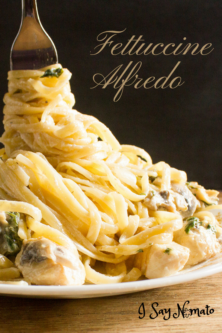 Creamy Fettuccine Alfredo - I Say Nomato Nightshade Free Food Blog