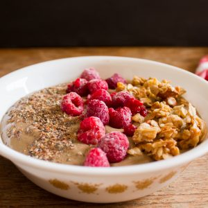 Chocolate Raspberry Smoothie Bowl