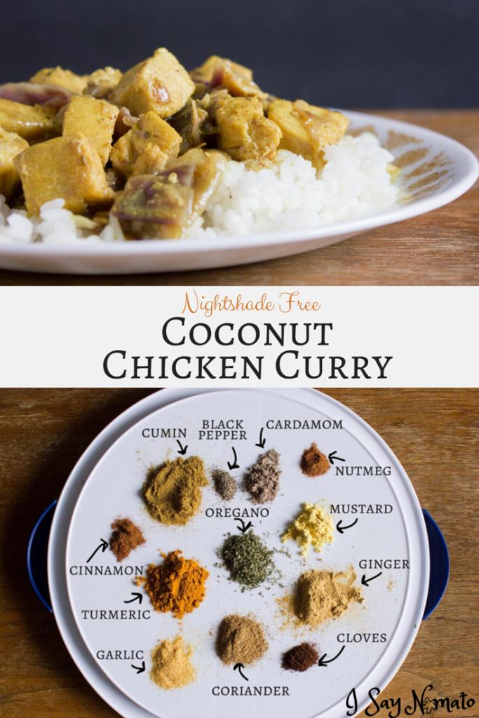 Nightshade Free Coconut Chicken Curry - I Say Nomato Nightshade Free Blog