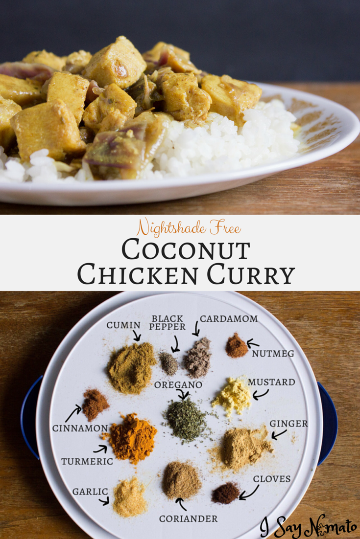 Coconut Chicken Curry (Nightshade Free) | I Say Nomato