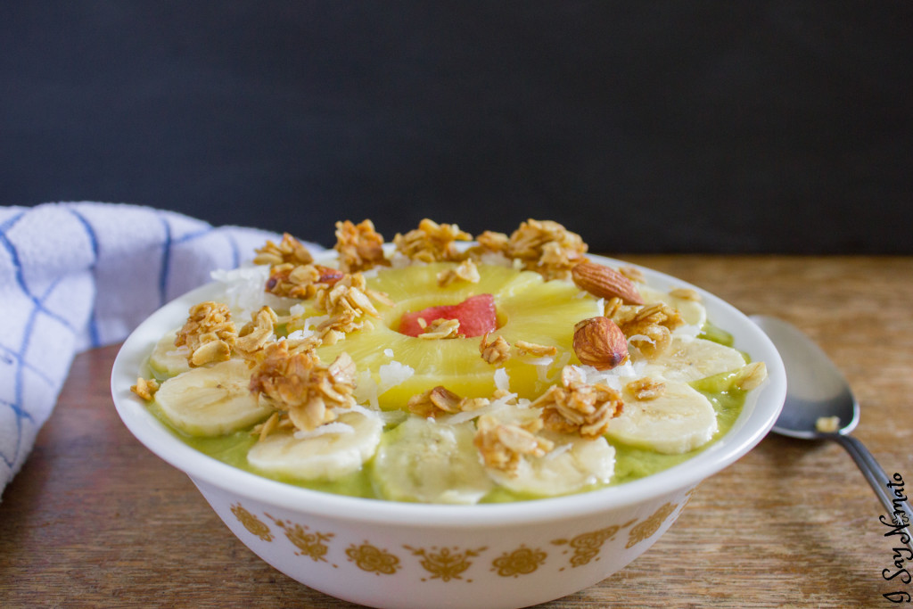 Pineapple Sunshine Smoothie Bowl - I Say Nomato Nightshade Free Food Blog