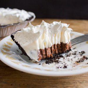 Nutella and Creole Cream Cheese Ice Cream Pie