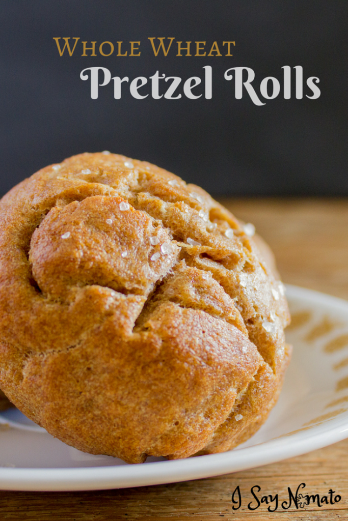 Whole Wheat Pretzel Rolls - I Say Nomato Nightshade Free Food Blog