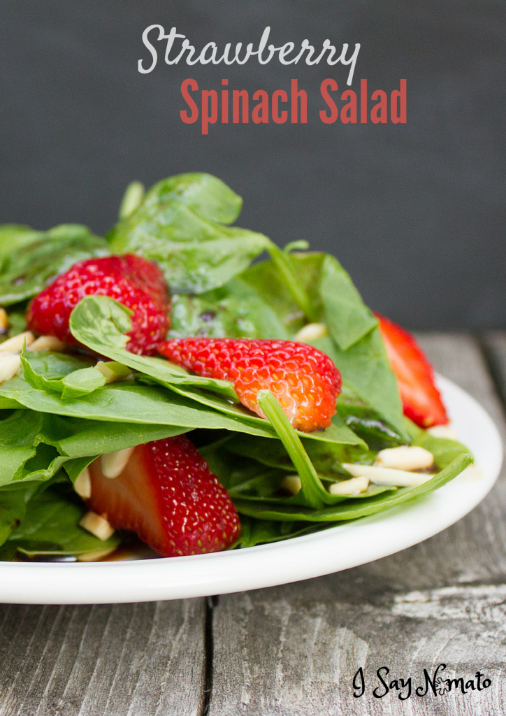 Strawberry Spinach Salad - I Say Nomato Nightshade Free Food Blog