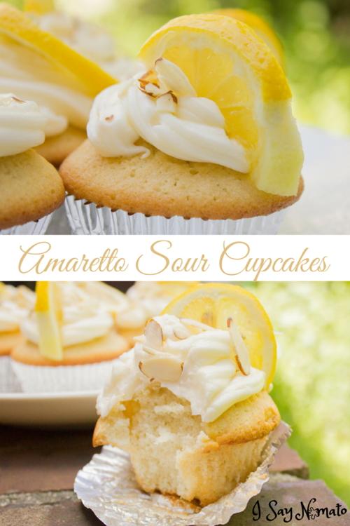Amaretto Sour Cupcakes - I Say Nomato Nightshade Free Food Blog