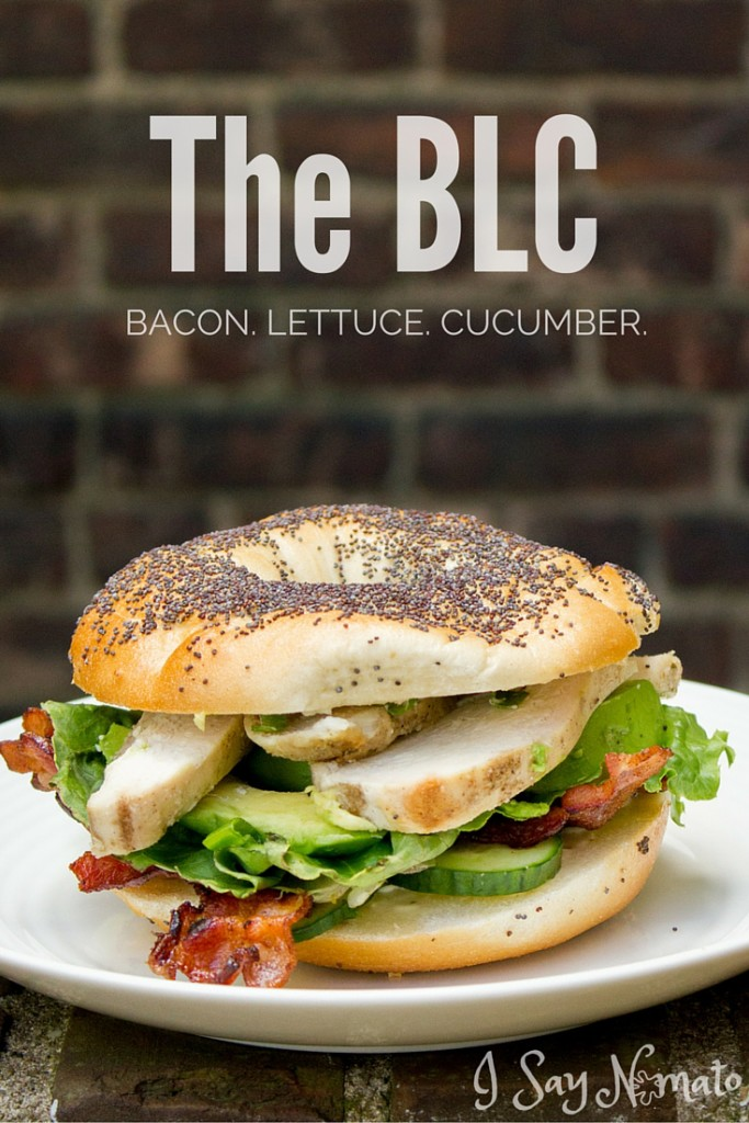 The BLC: Bacon, Lettuce and Cucumber Bagel - I Say Nomato Nightshade Free Food Blog