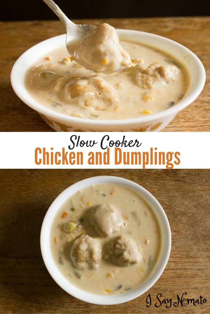 Slow Cooker Chicken and Dumplings - I Say Nomato Nightshade Free Food Blog