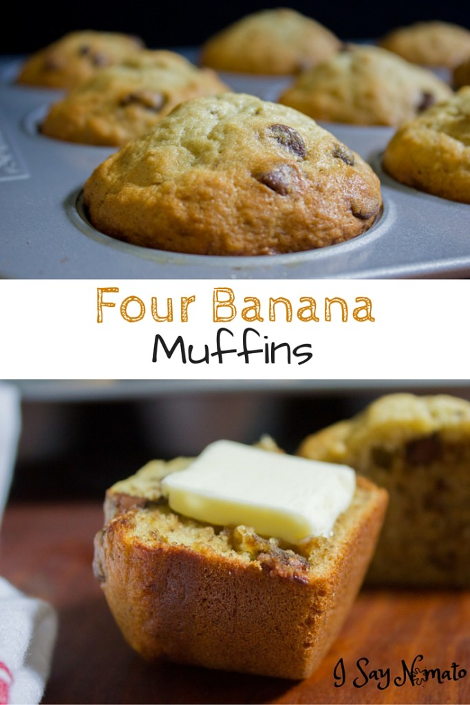 Four Banana Muffins - I Say Nomato Nightshade Free Food Blog