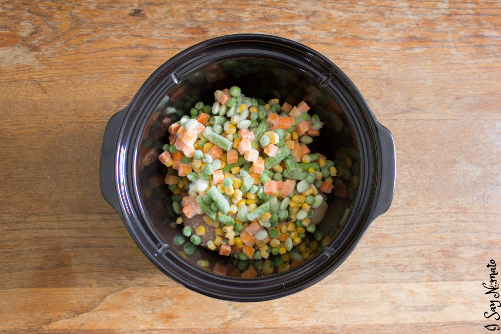 Slow Cooker Chicken and Dumplings - I Say Nomato Nightshade Free Food Blog nightshade free recipes nightshade free diet recipes nightshade free recipes nightshade free diet recipes without nightshades nightshade free foods nightshade free cookbook no nightshade recipes nightshade free cooking pepper free tomato free potato free