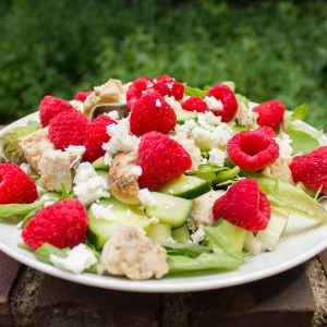 Raspberry and Feta Cheese Summer Salad