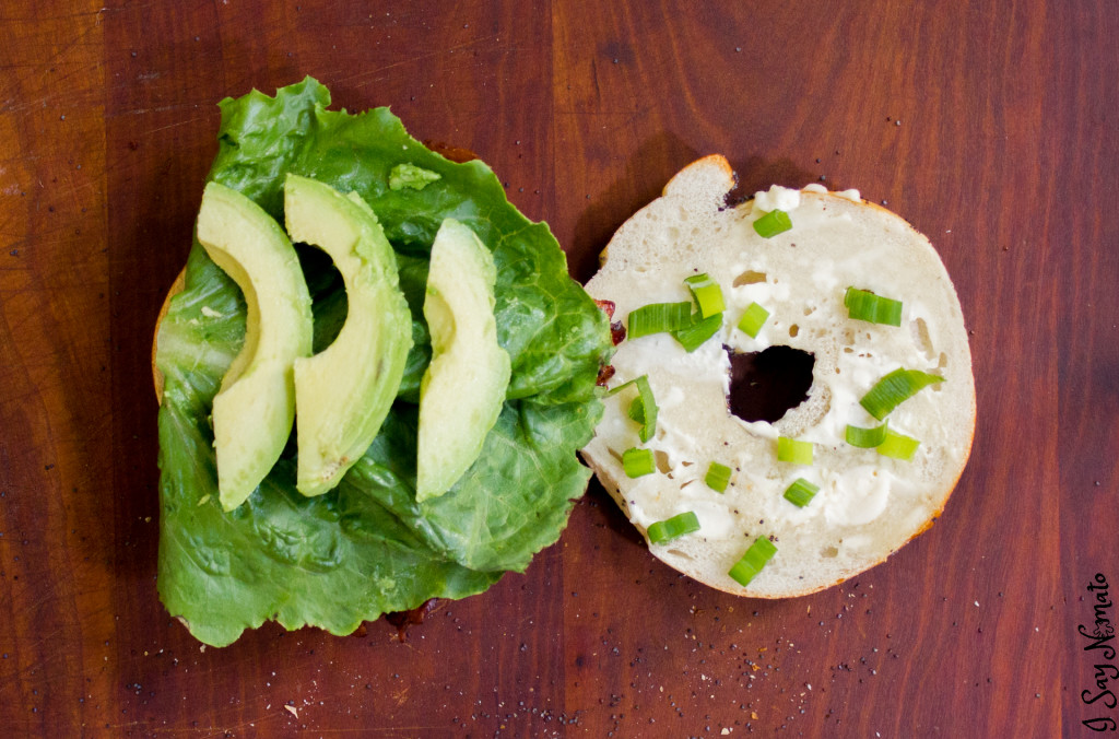 The BLC: Bacon, Lettuce and Cucumber Bagel - I Say Nomato Nightshade Free Food Blog nightshade free recipes nightshade free diet recipes nightshade free recipes nightshade free diet recipes without nightshades nightshade free foods nightshade free cookbook no nightshade recipes nightshade free cooking pepper free tomato free potato free