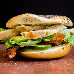 The BLC: Bacon, Lettuce, and Cucumber Bagel