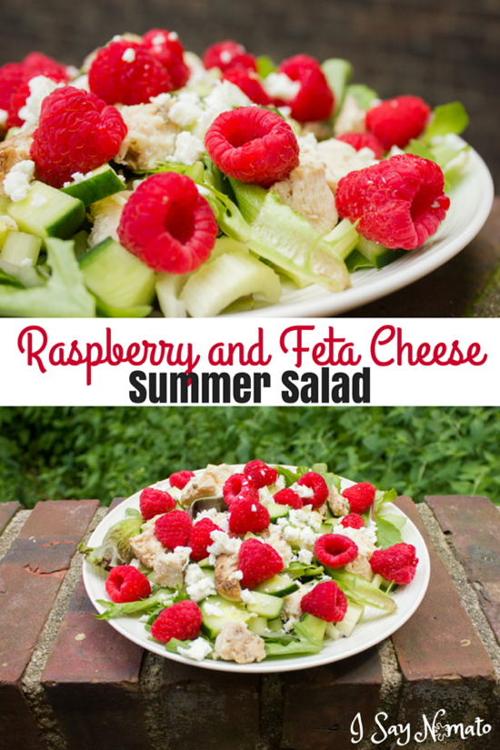 Raspberry and Feta Cheese Summer Salad - I Say Nomato Nightshade Free Food Blog
