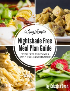 I Say Nomato Nightshade Free Meal Plan Guide