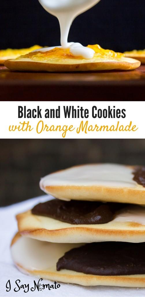 Black and White Cookies with Orange Marmalade - I Say Nomato Nightshade Free Food Blog