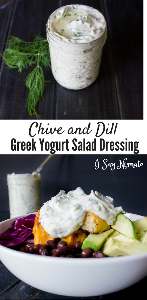 Chive and Dill Greek Yogurt Salad Dressing