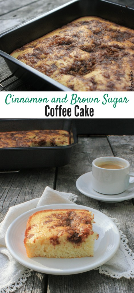 Cinnamon and Brown Sugar Coffee Cake | I Say Nomato