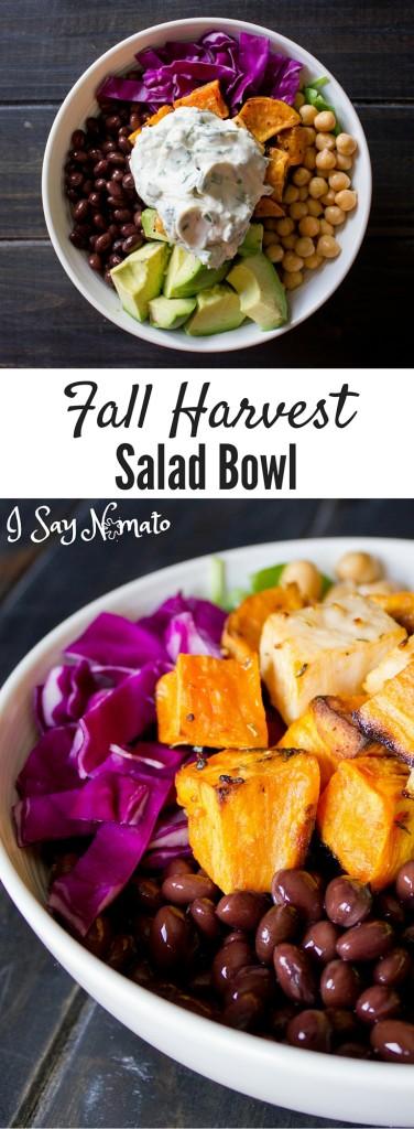 Fall Harvest Salad Bowl - I Say Nomato Nightshade Free Food Blog