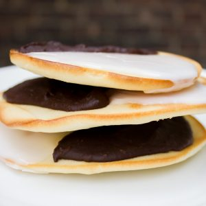 Black and White Cookies with Orange Marmalade