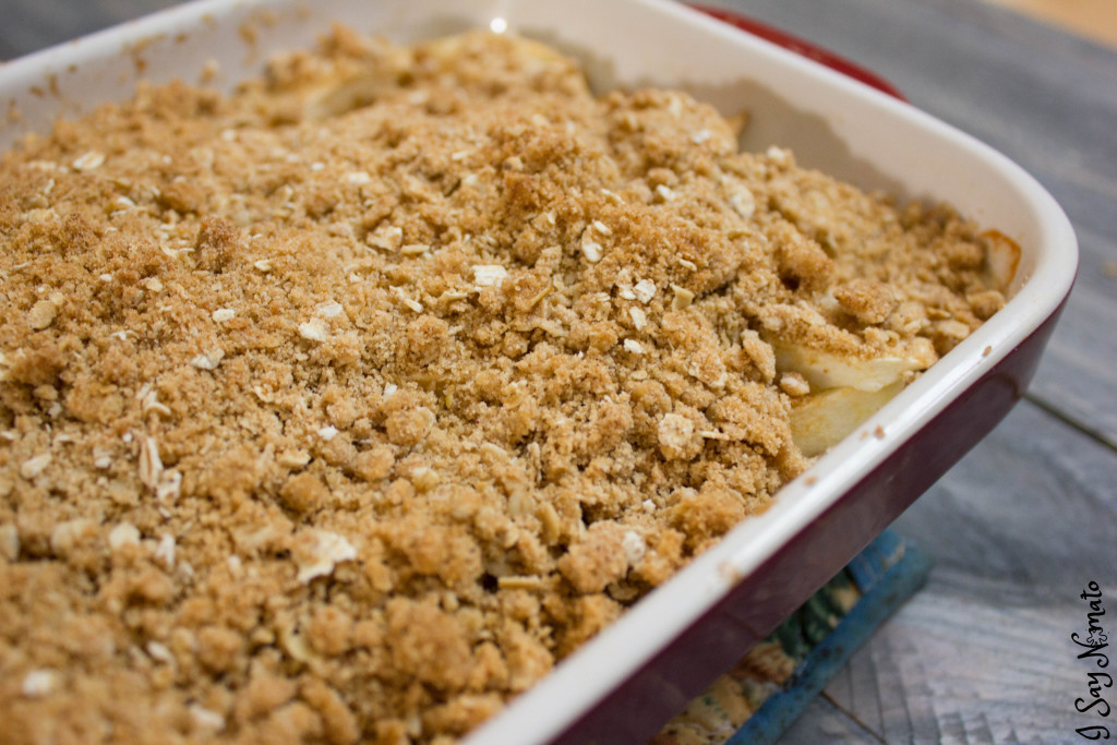 Apple Crisp - I Say Nomato Nightshade Free Food Blog nightshade free recipes nightshade free diet recipes nightshade free recipes nightshade free diet recipes without nightshades nightshade free foods nightshade free cookbook no nightshade recipes nightshade free cooking pepper free tomato free potato free