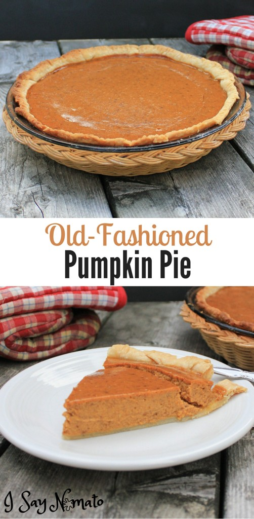 Old-Fashioned Pumpkin Pie - I Say Nomato Nightshade Free Food Blog