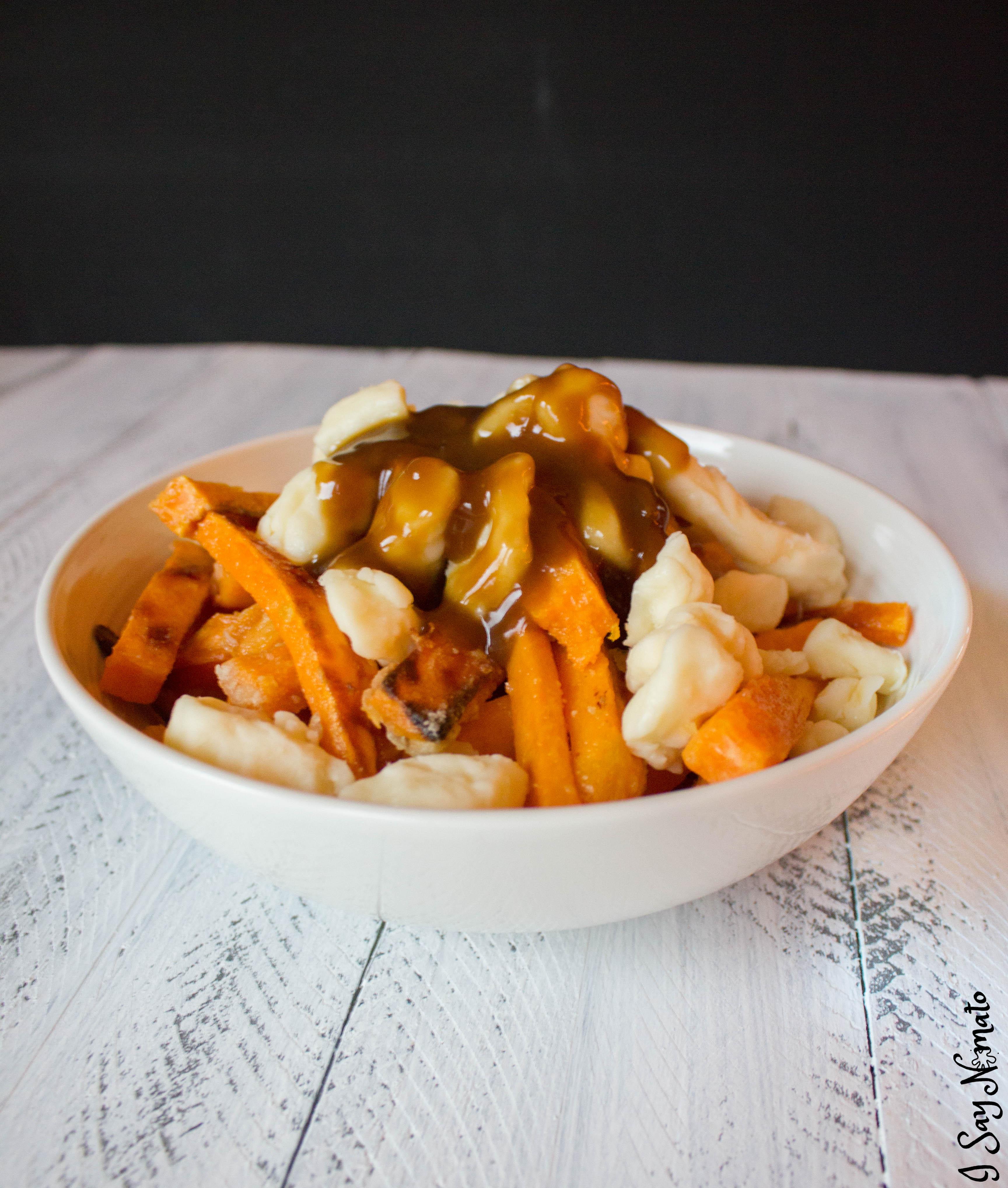 Sweet Potato Poutine | I Say Nomato