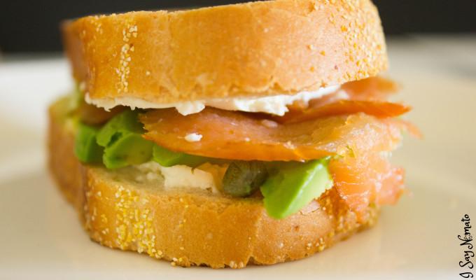Smoked Salmon Sandwich - I Say Nomato Nightshade Free Food Blog