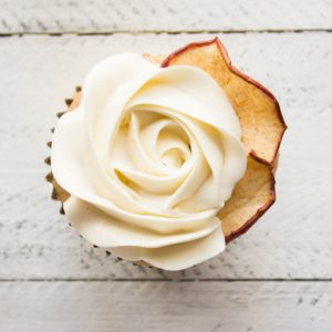 Apple Cider Cupcakes with Swiss Meringue Buttercream