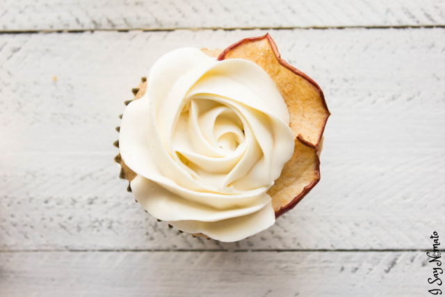 Apple Cider Cupcakes with Swiss Meringue Buttercream - I Say Nomato Nightshade Free Food Blog