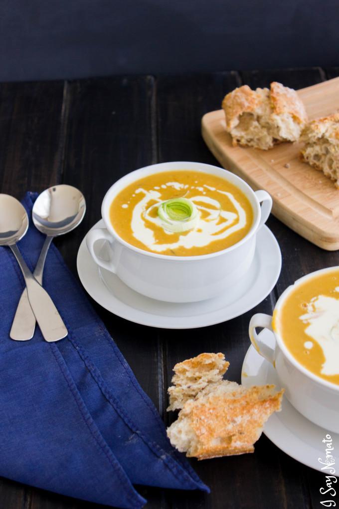 Sweet Potato and Leek Soup - I Say Nomato Nightshade Free Food Blog