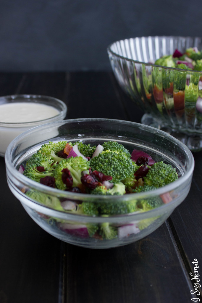 Quick and Easy Broccoli Salad - I Say Nomato Nightshade Free Food Blog