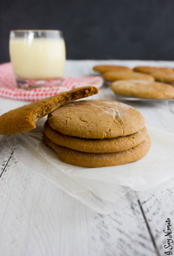 Soft and Chewy Molasses Cookies - I Say Nomato Nightshade Free Food Blog