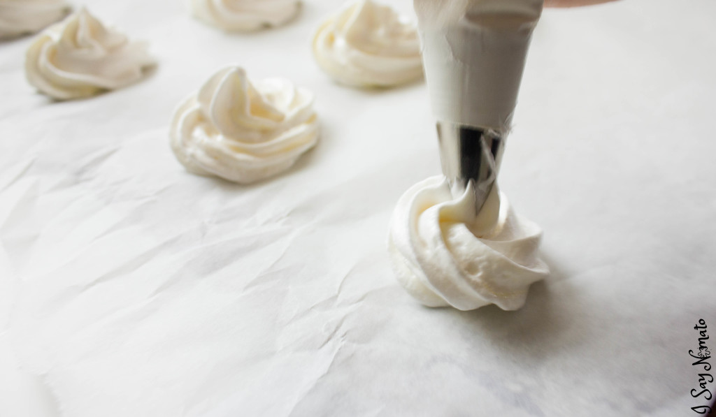 White Chocolate Meringue Cookies - I Say Nomato Nightshade Free Food Blog