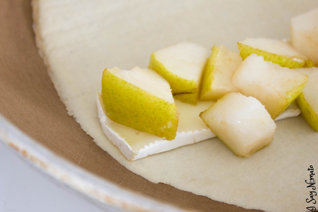 Crunchy Pear and Brie Crepes - I Say Nomato Nightshade Free Food Blog
