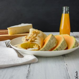 Crunchy Pear and Brie Crepes