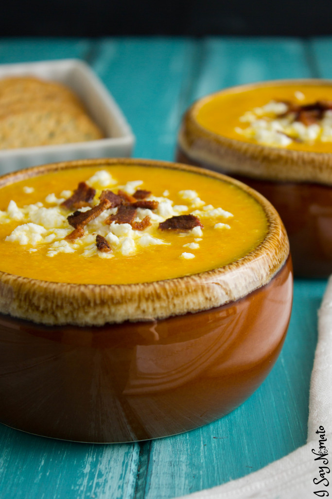 This Hearty Winter Butternut Squash Soup recipe will stick to your ribs! It's thick and creamy and ohhh so delicious!