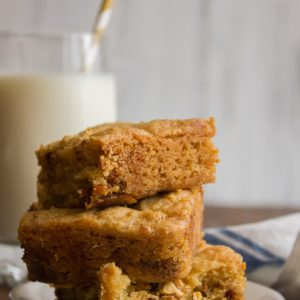 Chocolate and Caramel Blondies