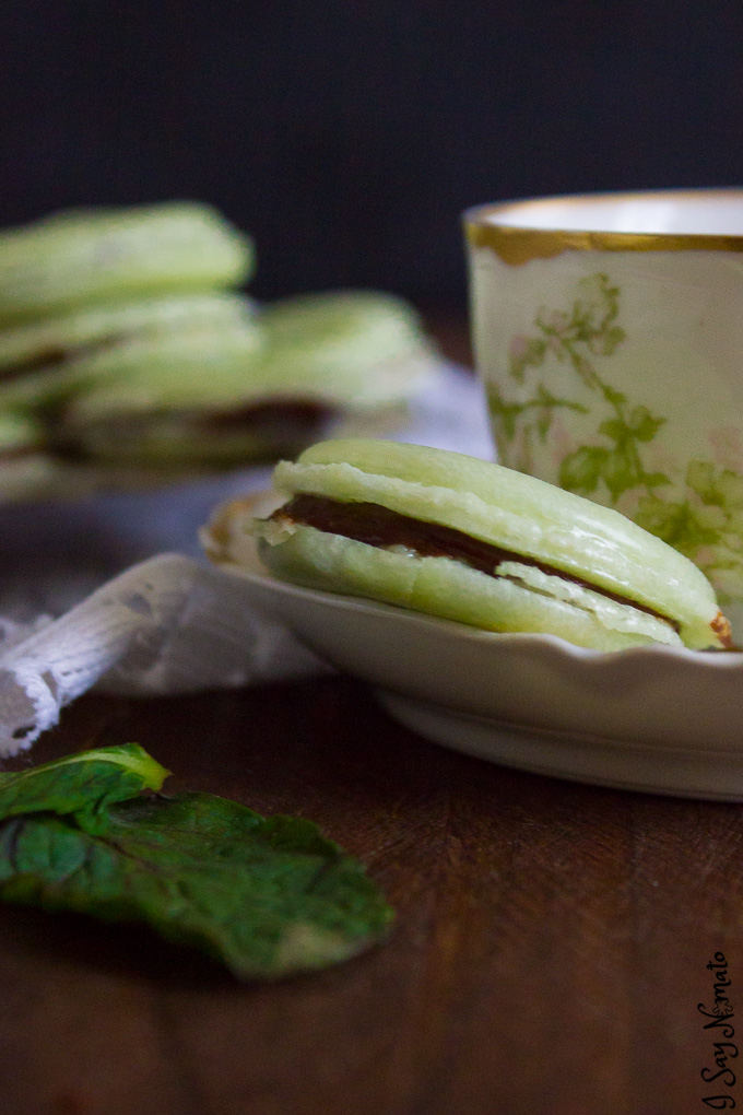 These Mint Chocolate Macarons are simply heaven in one bite. Chewy, delicate heaven.