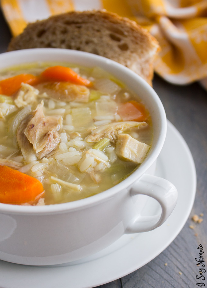 This Roast Chicken and Rice Soup is the definition of comfort food!