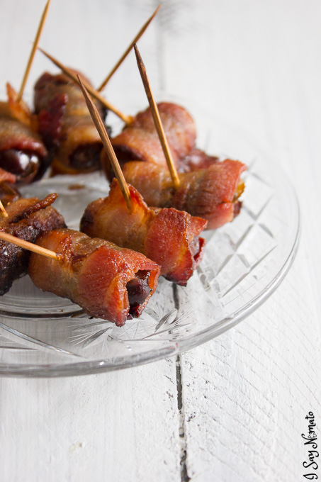 Bacon Wrapped Dates - I Say Nomato Nightshade Free Food Blog