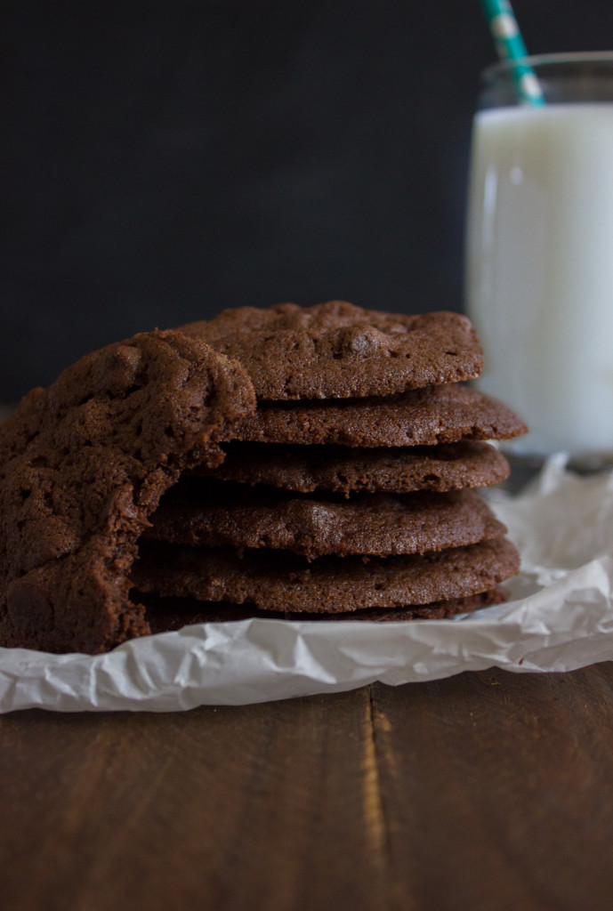 Decadent, rich Double Chocolate Chip Cookies. The stuff dreams are made of!