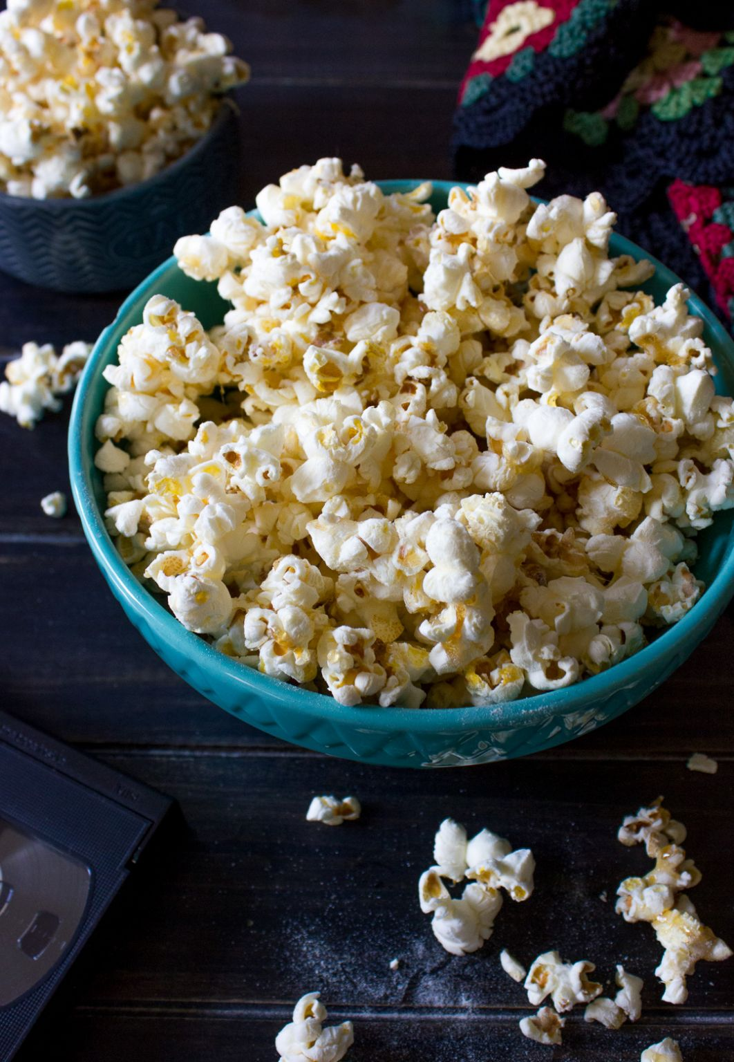 Half of the enjoyment of watching a movie is the popcorn! This recipe for Chicago Style Popcorn is loaded with caramel and, yes, cheese for a fantastic and addictive snack! The bowl will be empty before you know it!